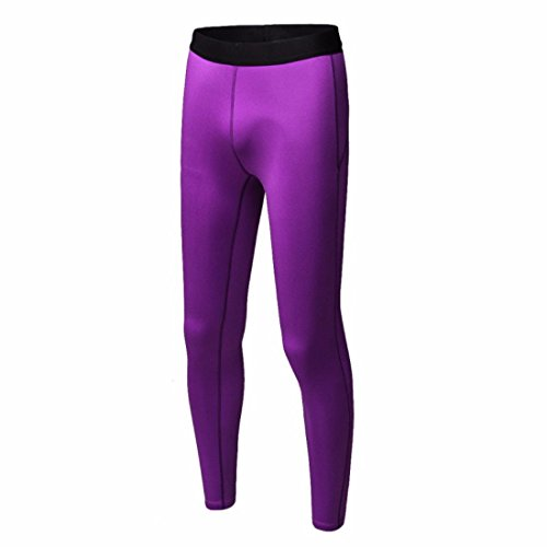 Women's Surper Stretch Skinny Breathable Elastic Full Length Leggings Lavender