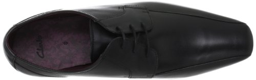 CLARKS Clarks Mens Shoe Chilton Lace Black Leather Negro