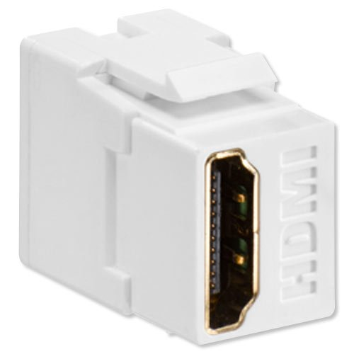 Leviton 40834-W Feed Through, QuickPort HDMI Connector, White