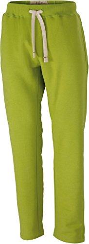 JAMES & NICHOLSON Pantaloni in felpa vintage (M, lime-green)
