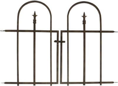 Arched Garden Gate (Panacea Products Arched Finial Gate, Brushed Bronze)