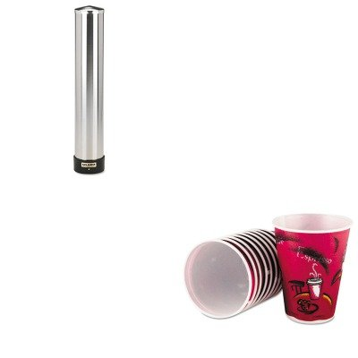KITSJMC3400PSLOX12J8002CT - Value Kit - Solo Symphony Design Trophy Foam Hot/Cold Cups (SLOX12J8002CT) and San Jamar Large Water Cup Dispenser w/Removable Cap (SJMC3400P) by Solo