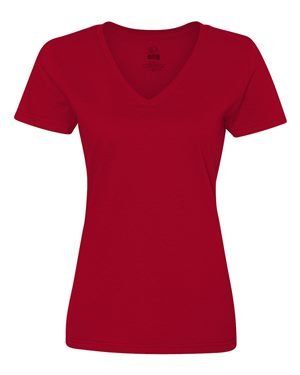 Fruit of the Loom Womens HD V-Neck T-Shirt (L39VR) -Athletic H -M