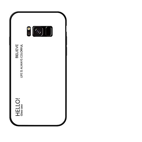 Case for Samsung Galaxy S8 Case S9 Plus S7 Edge Note 9 8 J4 J6 Phone Bag Gradient Glossy,White,S8