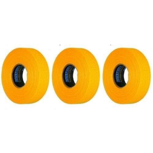 NEW Renfrew 3 Pk Yellow Hockey Stick Shaft Blade Bat Sports TAPE Rolls 24mmx25m