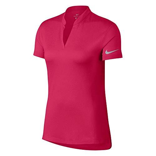 NIKE Zonal Cooling Shortsleeve Jacquard Fall Golf Polo 2018 Women Rush Pink/Flat Silver ()