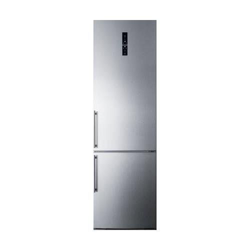 FFBF181ES 24 Bottom Freezer Refrigerator with 12.8 cu. ft. Capacity Digital Thermostat a Wine Rack ZeroZone Deli Drawer and High Temperature Alarm in Stainless Steel