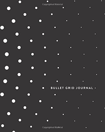 "Bullet Grid Journal: BW Bullet Pattern, 150 Dot-Grid Pages, 8""x10"" (Journals, Notebooks and Diaries)"