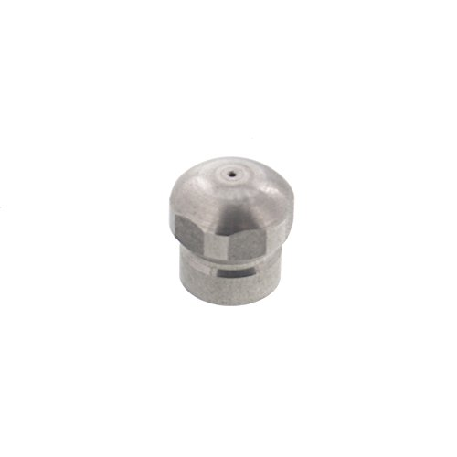 Erie Tools Button Nose 1/8 Sewer Jetter Drain Cleaning Nozzle, 4.5 Orifice Size, 4000 PSI, Max Temp 300 F by Erie Tools