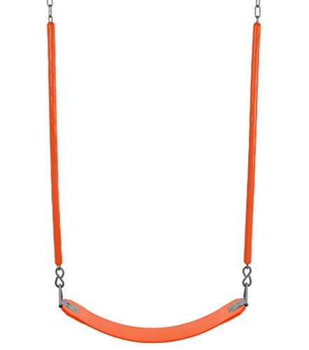 Soft Grip Chain - Swingan - Belt Swing for All Ages - Soft Grip Chain - Fully Assembled - Orange