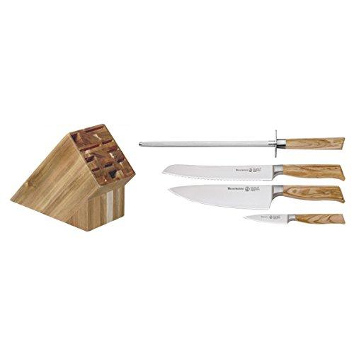 Messermeister Oliva Elite Gourmet Block Set - 5 Pieces - Elite 5 Piece Set