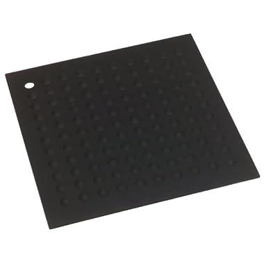 Lamson Big HotSpot Pot Holder/Counter Protector/Large Trivet,  11.5  x 11.5 , Black, Silicone