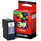 Lexmark Cartridge No. 37 Cartouche d'encre d'origine 1 x couleur (cyan, magenta, jaune) 150 pages boîtier rigide LRP