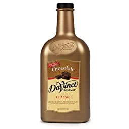 DaVinci Gourmet Chocolate Sauce, 1/2 Gallon (Plastic Jug)