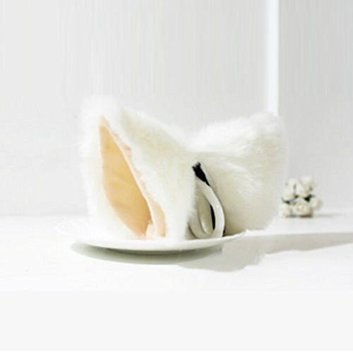 Delight eShop Fox Cat Long Fur Ear Hair Clip Lolita Party Anime Neko Cosplay Halloween Costume (Tortoise Costumes)