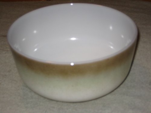 Vintage Federal Glass Iridescent Brown / Green 2 1/2 Quart Mixing Batter Bowl USA