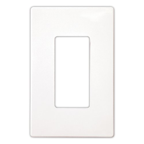 EATON PJS26W Arrow Hart Pjs26 Decorative Screw less Wall Plate, 1 Gang, 4-1/2 In L X 2-3/4 In W X 0.08 In T, White ()
