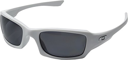 Oakley  Men's MPH Fives Squared Polarized Polished White W/ Grey - Black White Iridium Polished Oakley