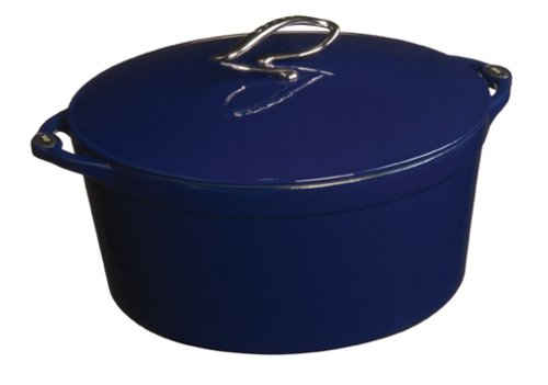 Amazon.com: Lodge Enamel Cast-Iron 7-Quart Dutch Oven