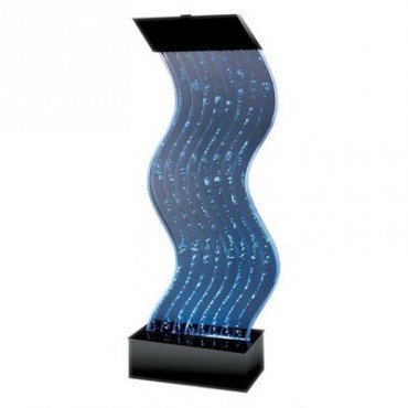 (Midwest Tropical Water Panel Wave Floor Outdoor Fountain)