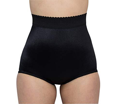 Brief Rago Panties Waist High (Rago Style 513 - High Waist Light Shaping Panty Brief, 4XL/38 Black)