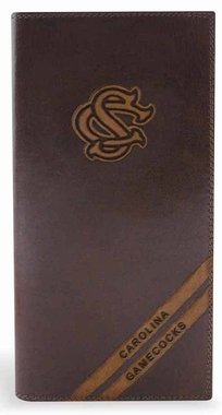 (NCAA South Carolina Gamecocks Zep-Pro Pull-Up Leather Long Secretary Embossed Wallet, Brown)
