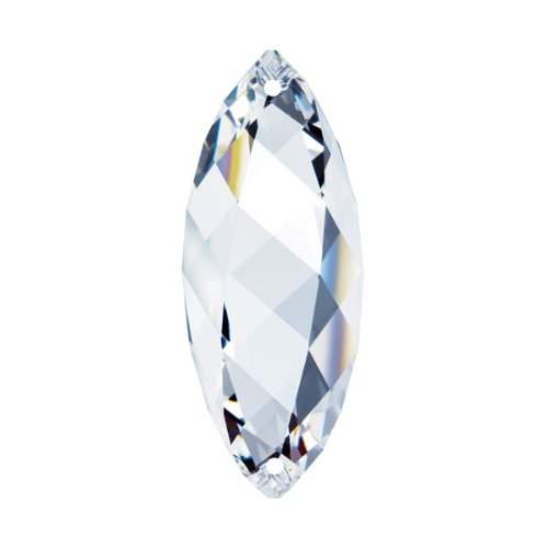 Swarovski crystal 2'' Clear Faceted Twist Prism Amazing Clarity & Shine with Strass Logo - Well Swarovski Crystals