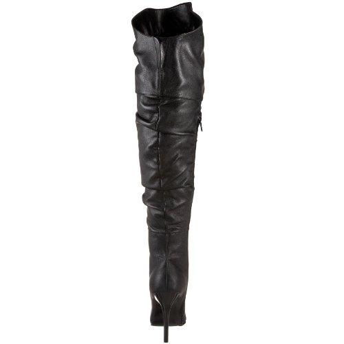 Polyurethane Rampage High Highest Black Heel 11 The Soft Women's Boot Thigh w46vOqFxq