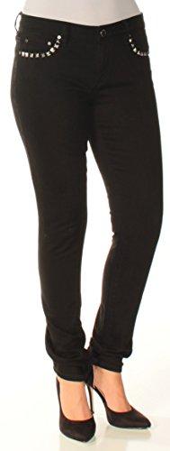 Michael Kors Womens Izzy Studded Skinny Fit Jeans, Black, 4 Regular