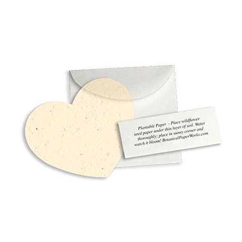 (Plantable Heart Note Favor - Cream (Pack of 25))