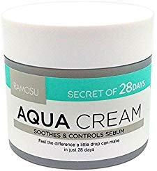 [RAMOSU] 28 ​Days Aqua Cream Soothing Hydrating Oil Control Facial Moisturizer | Anti Acne and Anti Aging