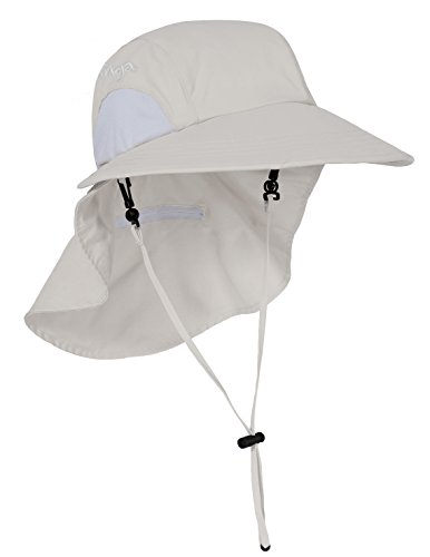 Tuga Adult UPF 50+ Sol Wide Brim Hat, Cream, Adult Medium