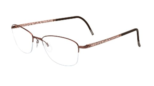 Eyeglasses Silhouette Illusion Nylor 4492 6056 brown matte 52/18/140 3 piece fra ()