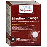Walgreens Nicotine Lozenges 4 mg, Cherry, 108 ea - 2pc