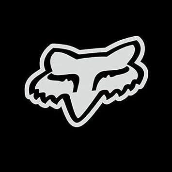 Fox Racing Car Sticker Logo Solid Face Vinyl 76 Mm White