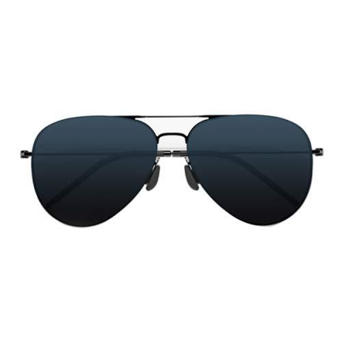 HITSAN INCORPORATION Original Xiaomi Mijia Mi TS Computer Glasses Polarized UV Lens Sunglasses, 304H Stainless Steel Gravity Rear Frame(Blue) ()