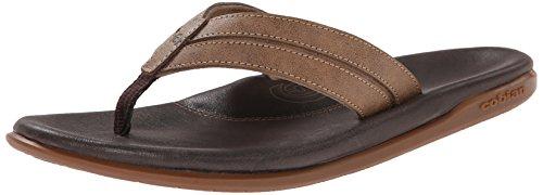 Cobian Men's Tofino Archy Flip Flop, Brown, 10 M US