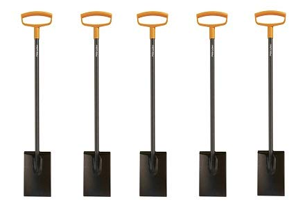 Fiskars 46 Inch Steel D-Handle Square Garden Spade 5- Pack
