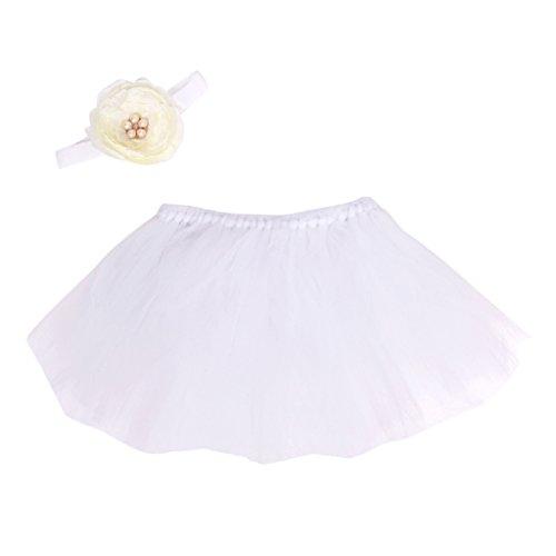 [Zebra Cute Newborn Toddler Baby Girls Headband+Tutu Skirt Prop Photo Outfits Costume (White)] (Zebra Head Costumes)