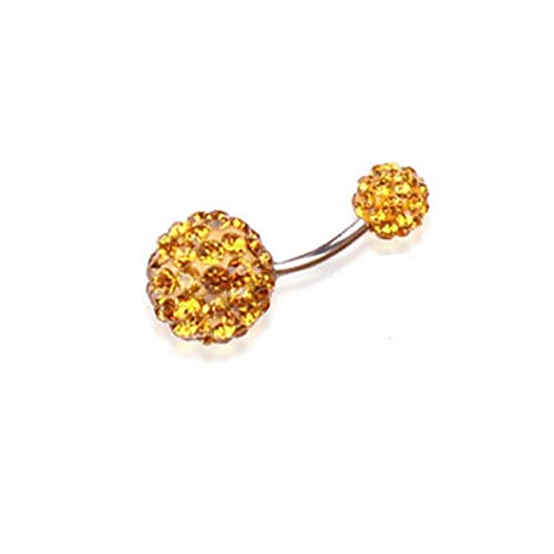 316L Surgical Steel Belly Button Ring Bar Navel Crystal Rhinestone Body Piercing