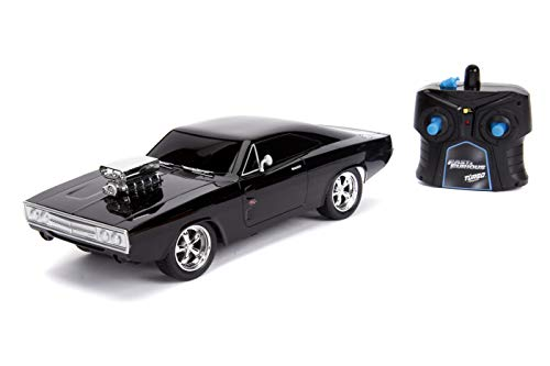Jada Fast & Furious Chase Twin Pack- Dom's Dodge Charger R/T & Dodge Charger SRT Hellcat, Police & Chase Car Rc, USB… 4
