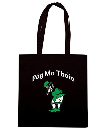 Speed MO THOIN Shopper POG TIR0163 Borsa Nera Shirt rxCvPq7wr