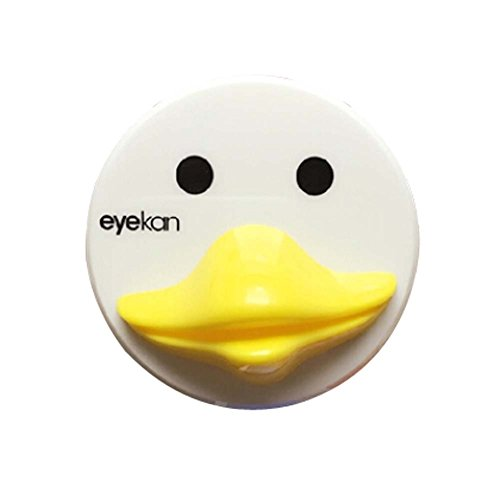 Acuvue 2 Contact Lenses - Yellow Duck Style Creative Contact Lenses Cases Plastic Lenses Holder, 7x7x2cm