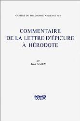Commentaire de la lettre d'Epicure à Hérodote