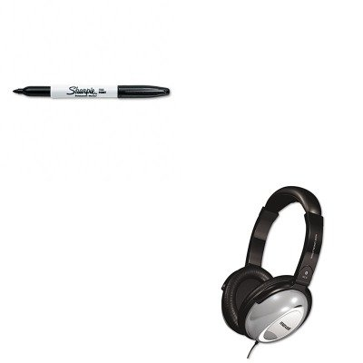 KITMAX190400SAN30001 - Value Kit - Maxell HP/NC-II Noise Canceling Headphone (MAX190400) and Sharpie Permanent Marker ()