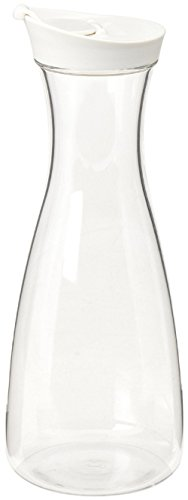Plastic Carafe Pitcher - Acrylic - BPA Free - 36 oz. (1.5 LT.) - Premium Quality - For Juice - Water - Wine - Iced Tea or Milk ()