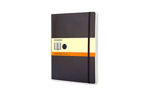 Moleskine Classic Soft Cover Notebook, Ruled, XL (7.5
