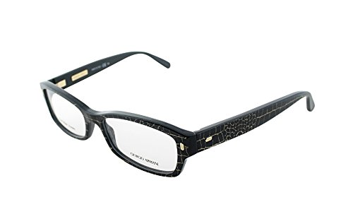Giorgio Armani GA 890 XZY Croco Blue Plastic Rectangle Eyeglasses - Blue Ga Eyewear