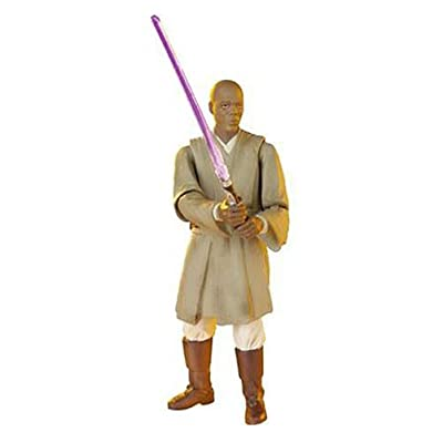 Star Wars Episode III 3 Revenge of the Sith MACE WINDU Force Combat Action Figure #10: Toys & Games