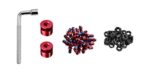 Funn Pedal Pins Studs for Black Magic Pedals (red)